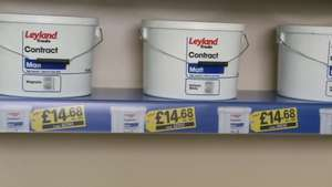 Leyland 10 litres white or magnolia paint £14.68 @ Toolstation