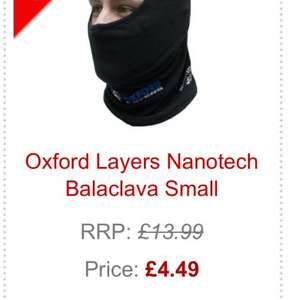 Oxford micro fleece balaclava was £13.99 now £4.49 at Ghostbikes.com