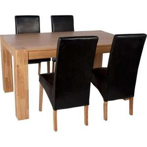 Longleat Solid Oak Table and 4 Chairs was £759 now £303.99 @ Homebase