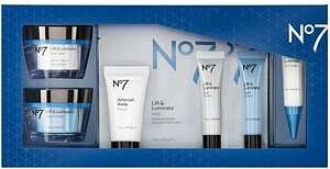No7 Lift & Luminate Skincare Collection reduced from £116.45 to £50 at Boots with free delivery