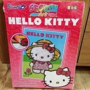 Hello kitty sequin art - £3.99 instore @ Home Bargains