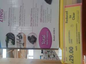 4490E Bissell Zing Vacuum Cleaner £29 @ Tesco Instore