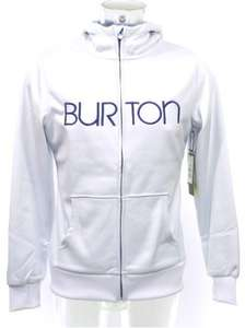Burton Dryride Scoop hoodie in white, xs and s, reduced from £65 to £25 @ SS20