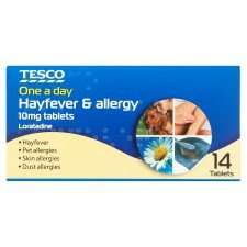Allergy & Hayfever Relief 10mg Tablets 39p @ Tesco - Cetirizine Hydrochloride