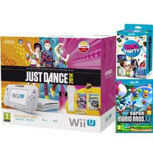 Nintendo Wii U Just Dance 2014 and Nintendo Land Bundle - Includes New Super Mario Bros. U + SiNG Party Wii U WIth Microphone £169.99 @ Zavvi