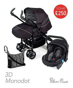 Silver Cross 3d travel system was £500 now is £250 with free delivery @ Mothercare