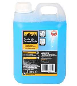 Free 2L Screen Wash in any Halfords store @ O2 Priority Moments