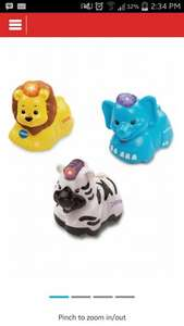 Vtech Toot-Toot set of 3 animals £12.74 at Argos