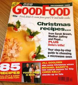 Free copy of bbc Good food magazine for christmas.
