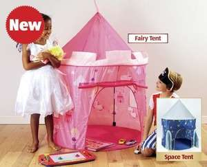 Fairy or Space Play Tents for £11.99 at Aldi from Thursday 27th November
