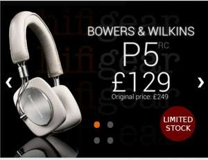 B&W (Bowers & Wilkins) P5 headphones for only £129! @ HIFI GEAR