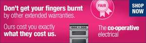 "5 year warranties ""at cost"" from Co-op Electrical Shop e.g. £48 for £899 range cooker"
