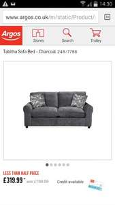£800 down less than half price - Tabitha Sofa bed £319.99 @ Argos