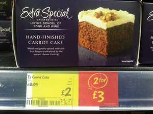 EXTRA SPECIAL CARROT CAKE £2 or 2 for £3 @ asda instore and online....