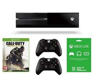 Xbox One w/COD Advanced Warefare, Forza 5 (Digital), 12 Months Xbox Live, 2 Controllers and Headset @ Amazon for £389.99