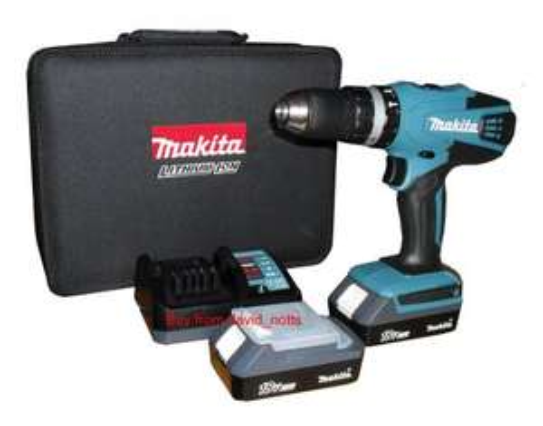 B&Q Black Friday Deal - Makita HP457DWEX2 Combi Drill £72