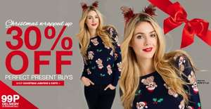 30% OFF XMAS BUYS + 99P DELIVERY @ Peacocks