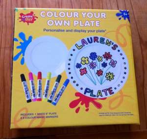 Draw your own plate £2.50 Home Bargains - fab for Santa plates