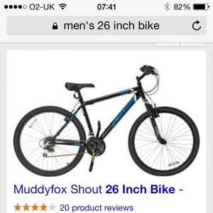 Muddyfox Shout 26 Inch Bike - Unisex. £67.99 delivered at Ebay / Argos Outlet