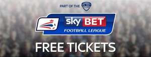 Free Championship Football Tickets @ Sky Bet