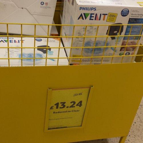 AVENT BOTTLE FEEDING SYSTEM - £13.24 instore @ Tesco
