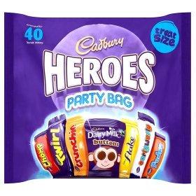 Asda 567g Cadbury 40 Heroes Party Bag £3 online £2 in store!