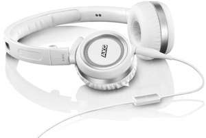 AKG K452 High-Performance On-Ear Headphones with In-line Microphone - White £24.99 - RRP £79.99 @ Amazon UK