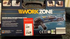 Workzone 300w multi functional tool reduced from £29.99 to £14.99 @ Aldi
