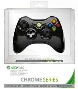 Official Xbox 360 Wireless Controller - Black Chrome @ Amazon £16.99 (Lightning Deal)