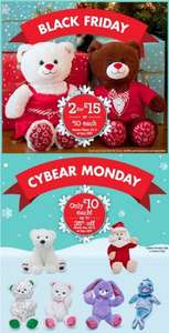 Black Friday & Cyber Monday Deals @ Build A Bear (2 Christmas Bears for £15)