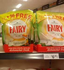 72 Fairy Dishwasher Tablets - £6.95 @ FarmFoods