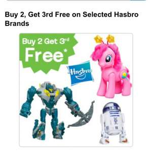 3 for 2 on Hasbro brands £4.49 @ Toys R Us