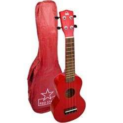 Red Beginner Soprano Ukulele Including Free Bag - 11.99 from DJM Music