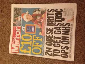 £10 Off When You Spend £50 @ Aldi In Todays Daily Mirror £0.55p