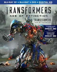 Transformers: Age of Extinction [Blu-ray 3D + Imax 3d £11 @ Amazon.ca