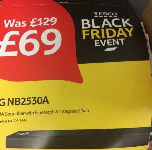 LG NB2530A soundbar £69.99 @ Tesco (Black Friday)