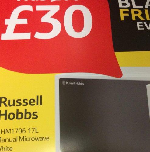 Russell hobbs Microwave (Rh1706) £30 @ Tesco - (Black Friday)