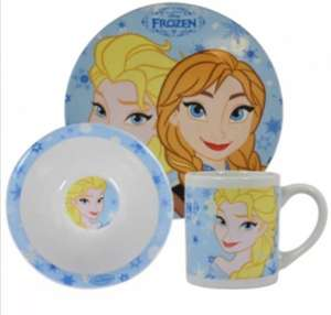 Frozen 3 piece ceramic dinnerware set £3.99 @ B&M stores