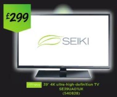 Seiki SE39UAO1UK 39 Inch 4k ultra High definition TV £299 @ Asda instore