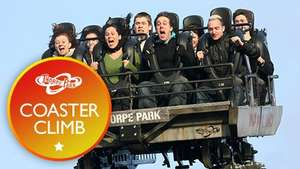 2 for 1 Coaster Climb and Entry to THORPE PARK Resort - £75! Red Letter Days