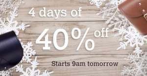 Zatchels four days of 40% off selected items + 15% off everything