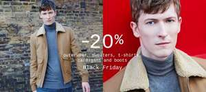 20% off Coats, knitwear, t-shirts and boots on all departments at ZARA- Black Friday
