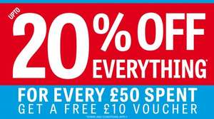 sports direct > Get a £10 Voucher when you spend £50