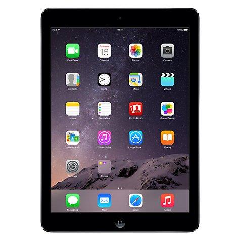 Apple iPad Air Wi-Fi, 32GB, Space Grey - 2 Year Warrantee @ John Lewis £329 Delivered