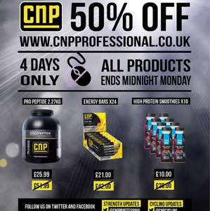 CNP professional 50% off all products for the next 4 days