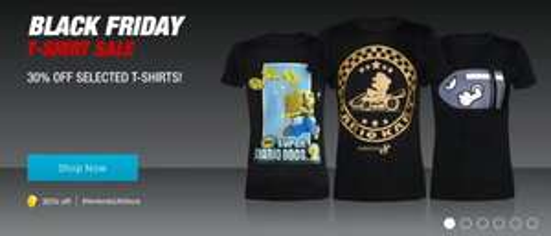 Nintendo Store Black Friday T Shirt Sale 30% Off £9-£10.49