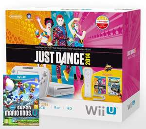 Wii U Basic, Just dance 2014, NintendoLand, New Super Mario Bros Bundle £149.99 @ eBay Shopto