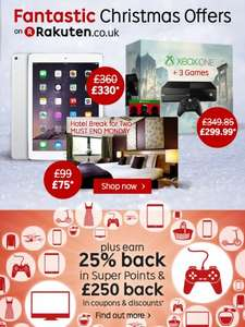 Fantastic deals from Rakuten for Black Friday! Plus 25% back with points & £250 back in coupons!!