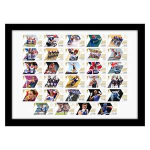 Official Team GB Gold Medal Winners 2012 - Framed Stamp Set - £24 + P&P (One Day Offer - Was £39 + P&P) @ PostOfficeShop (£25.99)
