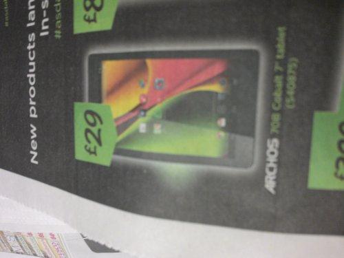 archos 7 cobalt tablet £29 @ Asda (instore)